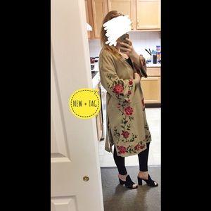ZARA Suede Kimono/Coat